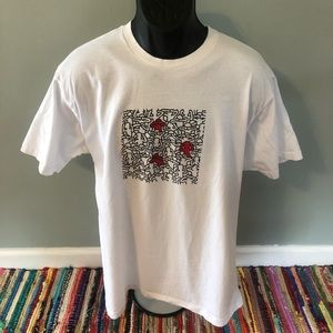 90s Keith Haring See Hear Speak No Evil Shirt XL